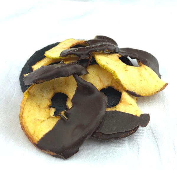 Pommes Séchées au Chocolat Noir